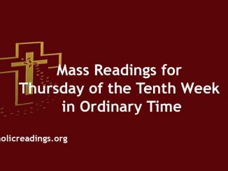 Mass Readings for Thursday of the Tenth Week in Ordinary Time