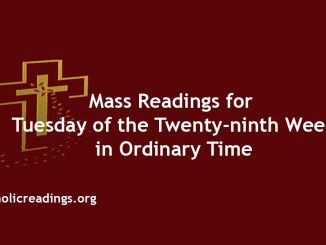 Mass Readings for Tuesday of the Twenty-ninth Week in Ordinary Time