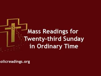 Mass Reading for Twenty-third Sunday in Ordinary Time
