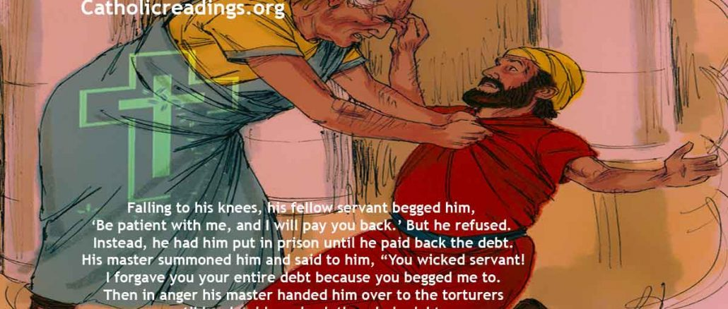Parable of the Unforgiving Servant - Matthew 18:21-35 - Bible Verse of the Day