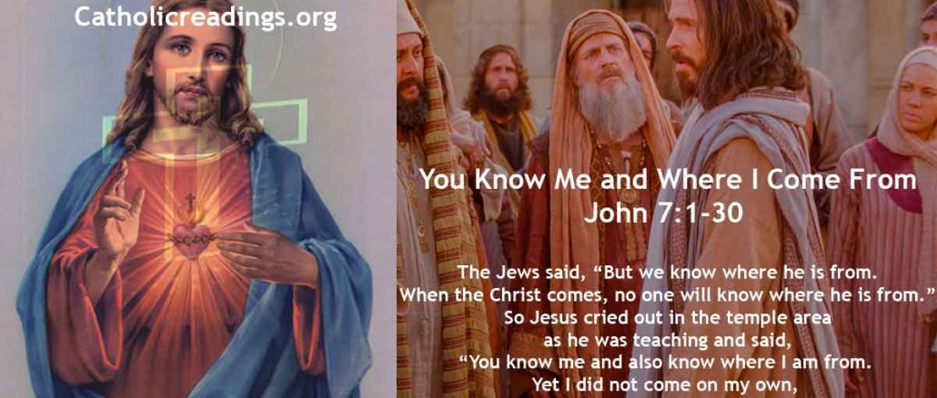 You Know Me and Where I Come From - John 7:1-30 - Bible Verse of the Day