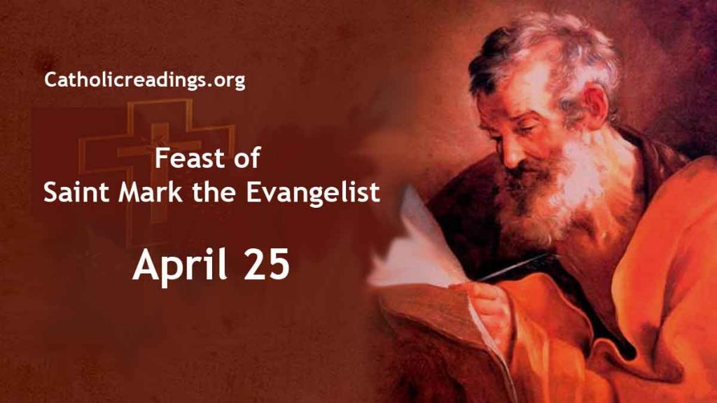 Feast of Saint Mark the Evangelist - Bible Verse of the Day