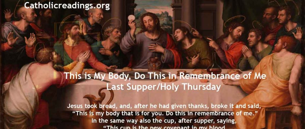 This is My Body, Do This in Remembrance of Me - Last Supper/Holy Thursday/Maundy Thursday - Bible Verse of the Day