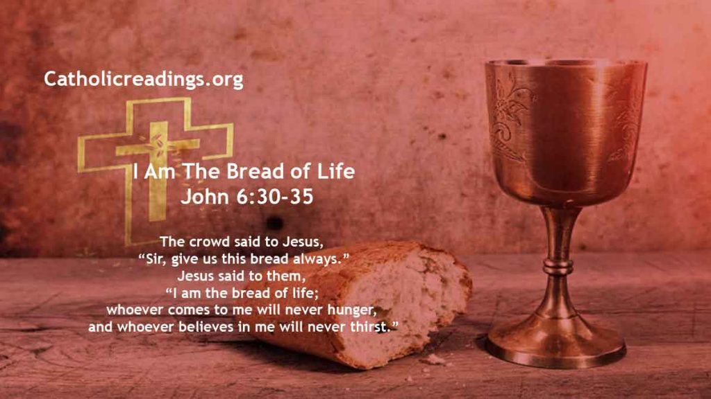 I Am The Bread of Life; Whoever Comes To Me Will Never Hunger - John 6:30-35 - Bible Verse of the Day