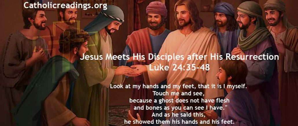 Jesus Meets His Disciples after His Resurrection - Luke 24:35-48 - Bible Verse of the Day
