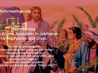 Palm Sunday - Jesus Enters Jerusalem in Jubilation for His Passion and Cross - Bible Verse of the Day
