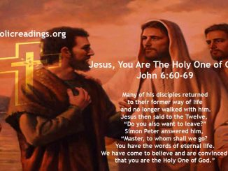 Jesus, You Are The Holy One of God - John 6:60-69 - Bible Verse of the Day