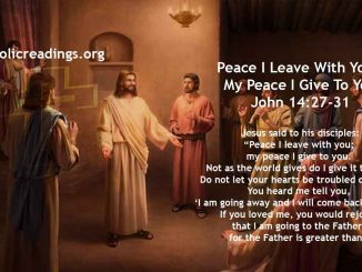 Peace I Leave With You, My Peace I Give To You - John 14:27-31 - Bible Verse of the Day