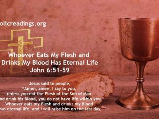 Whoever Eats My Flesh and Drinks My Blood Has Eternal Life – John 6:51-59 - Bible Verse of the Day