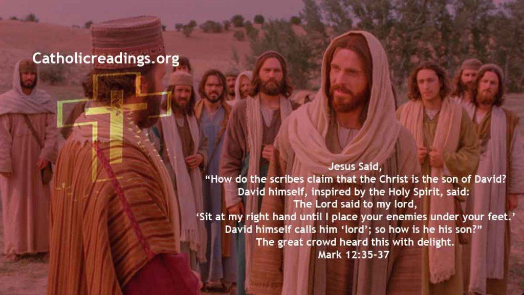 Hearing the Words of Jesus With Delight - Mark 12:35-37 - Bible Verse of the Day