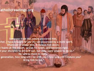 Healing of the Boy Possessed By a Demon - Bible Verse of the Day