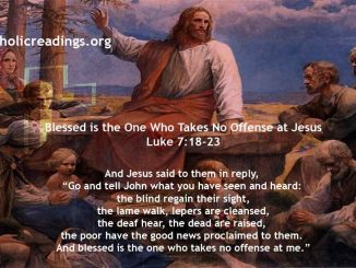 Blessed is the One Who Takes No Offense at Jesus - Luke 7:18-23 - Bible Verse of the Day