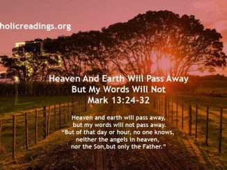 Heaven And Earth Will Pass Away But My Words Will Not - Mark 13:24-32 - Bible Verse of the Day