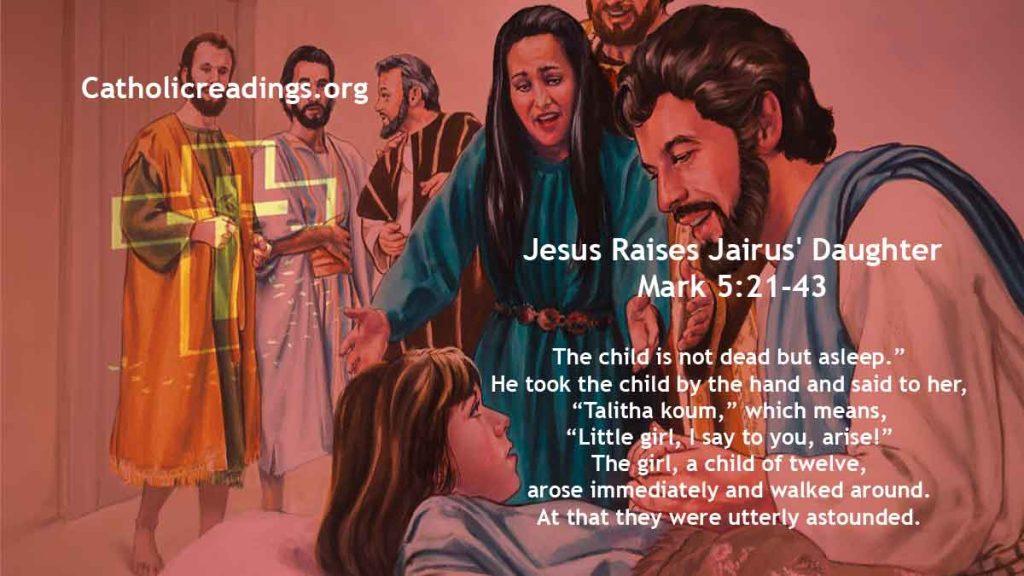 Jesus Raises Jairus' Daughter - Mark 5:21-43 - Bible Verse of the Day