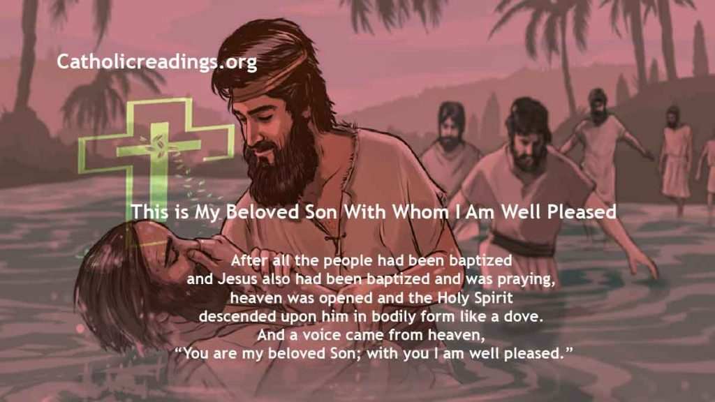 This is My Beloved Son With Whom I Am Well Pleased - Matthew 3:13-17, Mark 1:7-11 - Bible Verse of the Day