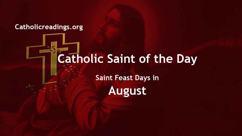 Catholic Saint Feast Days in August