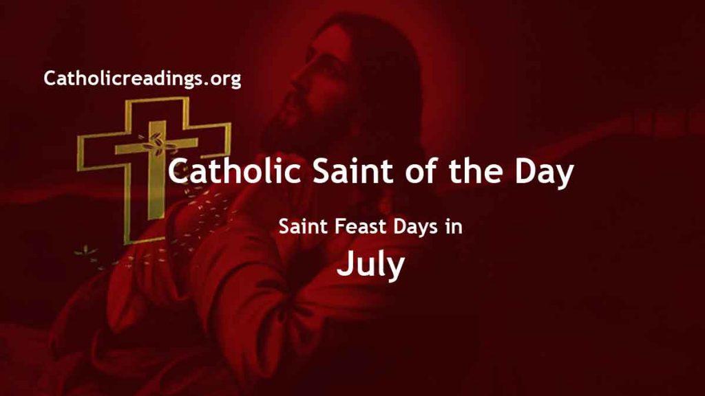 Catholic Saint Feast Days in July