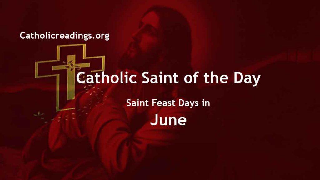 Catholic Saint Feast Days in June