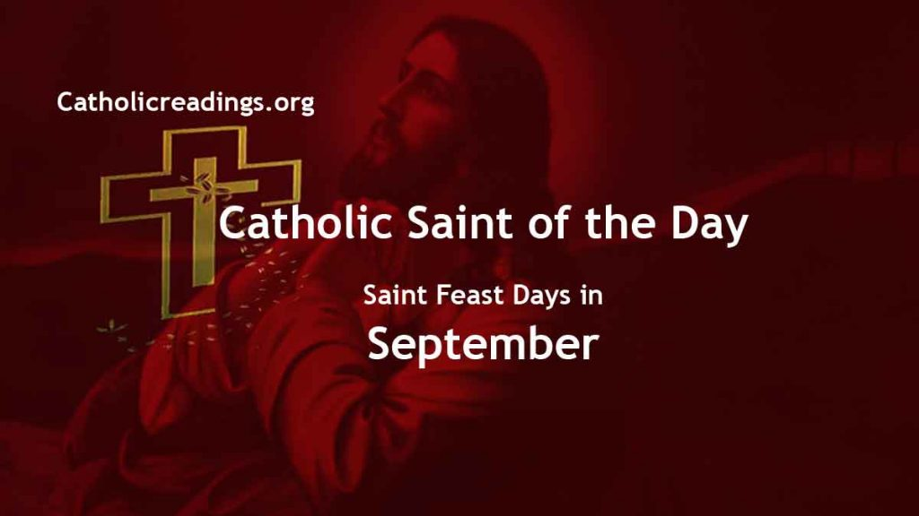 Catholic Saint Feast Days in September