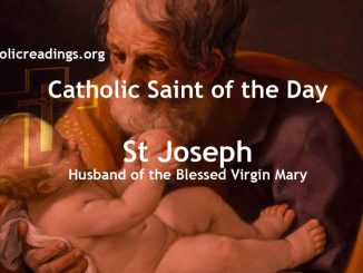 St Joseph, Husband of the Blessed Virgin Mary - Feast Day, March 19 - Saint of the Day